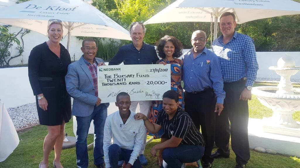 l.t.r. Marjolein v Mourik Harry Zass Maarten vd Ven Melanie Burke Chairman StreetSmart SA Basil May and Francois du Rand with Thabo and Alderay in front WP