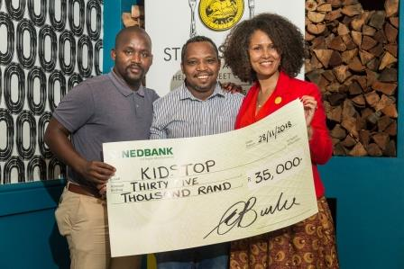 Anele Ngoyo and Jonathan Gelderblom Kidstop with Melanie WP