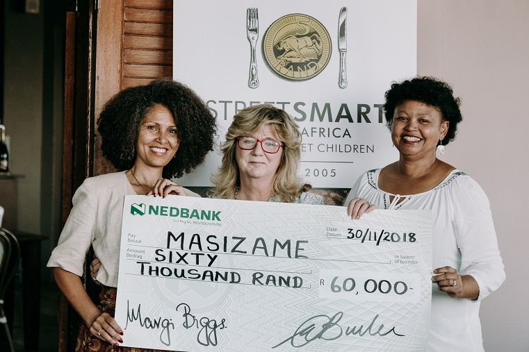 Melanie Burke StreetSmart SA with Brenda Wall and Elaine Smith Masizame WP