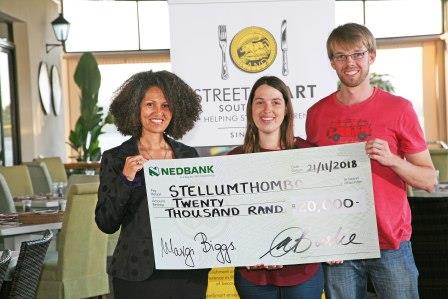 Melanie Burke StreetSmart SA with Arina and Ruben Scheepers Stellumthombo WP